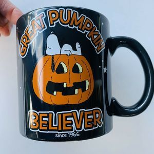 Snoopy Peanuts GREAT PUMPKIN BELIEVER Mug Large